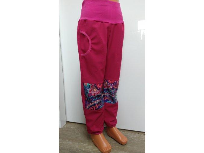 Softshelové kalhoty - růžové - orient