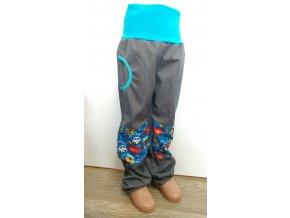 Softshelové kalhoty - šedé - hasiči