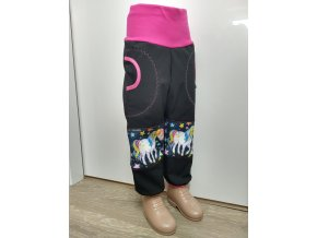 Softshelové kalhoty - černá - jednorožec