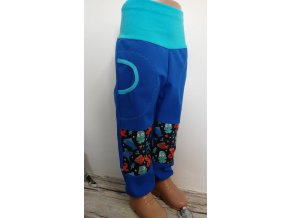 Softshelové kalhoty - modré - mořské plody
