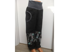 Softshelové kalhoty - černé - skate