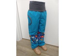 Softshelové kalhoty - tyrkys - hasiči