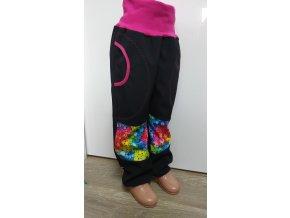 Softshelové kalhoty - černé -  bublinky