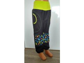 Softshelové kalhoty - černé - bubáci