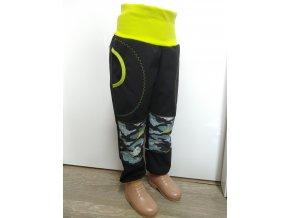Softshelové kalhoty - černá - maskáč