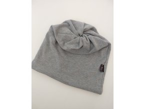 čepice s dírou- barva šedá