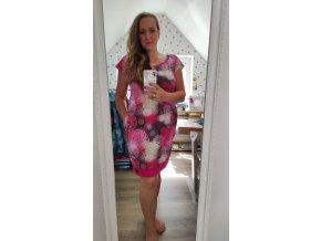 šaty růžová mandala, vel 42/44