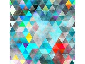 trojuholn ky geometrick vzor tyrkysov