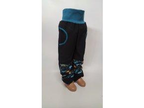 Softshelové kalhoty - černé -  dino