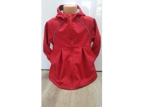 Softshellový kabátek- červený