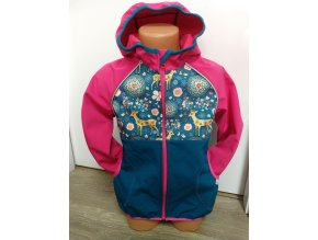 Softshellová bunda – růžová – srnečci