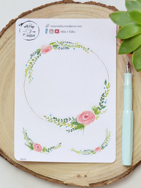 Samolepky věneček | Květinová zahrada