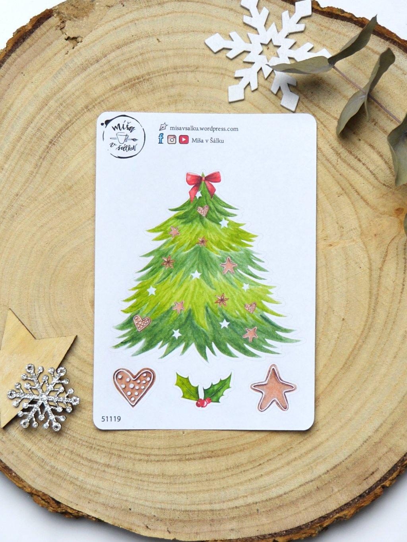 Samolepky vánoční | Stromeček minulých Vánoc