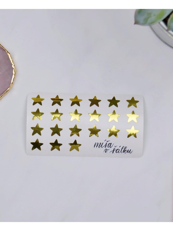 Samolepky vinylové - Zlaté hvězdy