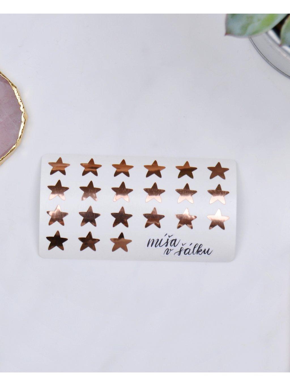 Samolepky vinylové - Rose gold hvězdy