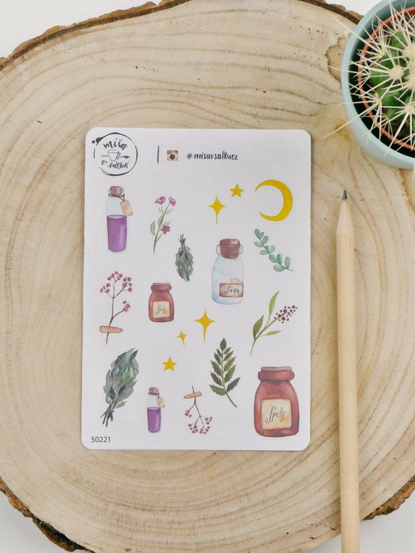 Samolepky - Kouzelné bylinky