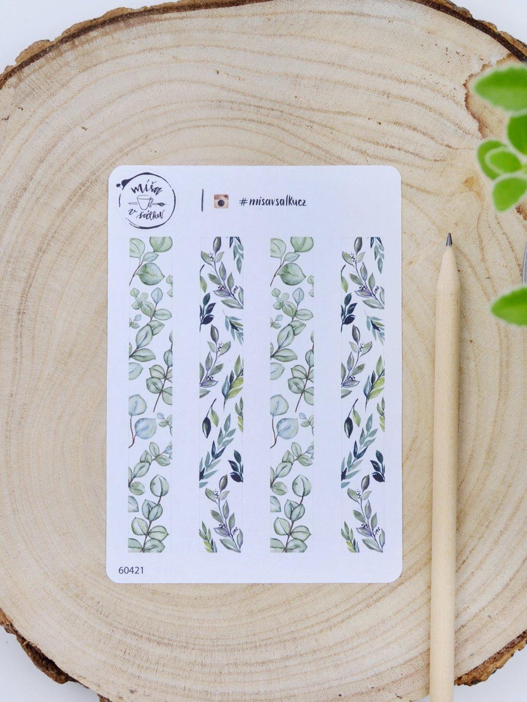 Samolepky pásky - Eukalyptus