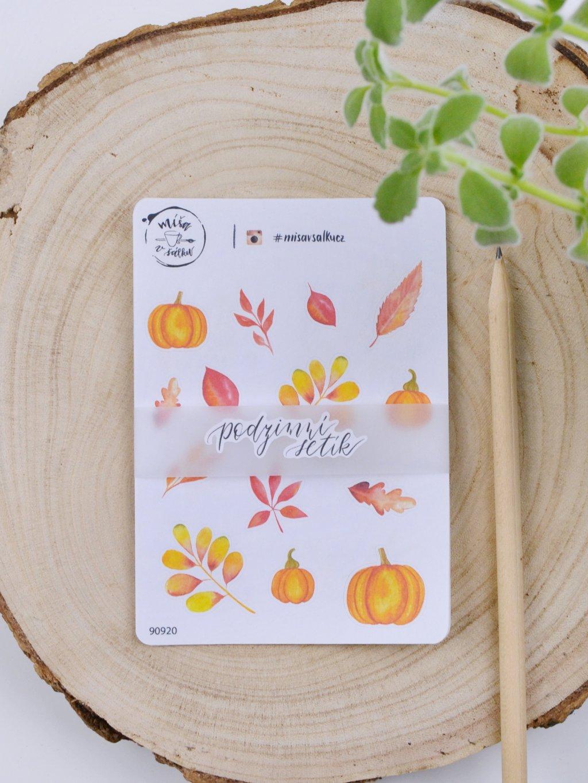 Samolepky - Podzimní setík 5 ks