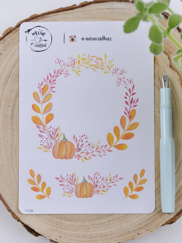 Samolepky věneček | Procházka podzimem