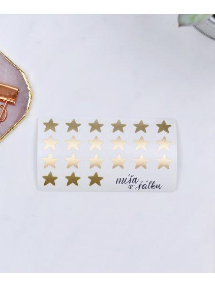 Samolepky vinylové - Matné zlaté hvězdy