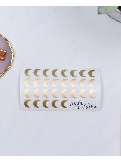 Samolepky vinylové - Matné zlaté měsíce