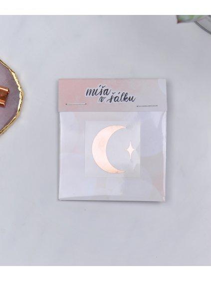 Vinylová samolepka na diář - Měsíc | Rose gold