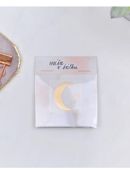 Vinylová samolepka na diář - Měsíc | Matná zlatá