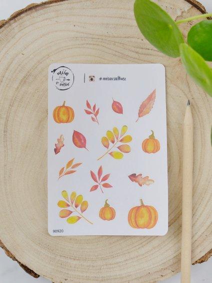 Samolepky - Podzimní listí