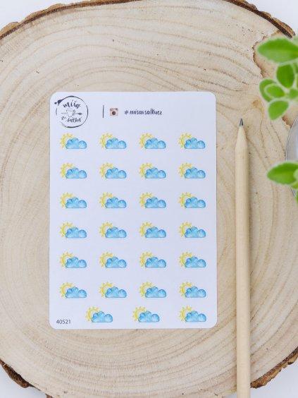 Samolepky - Počasí | Polojasno