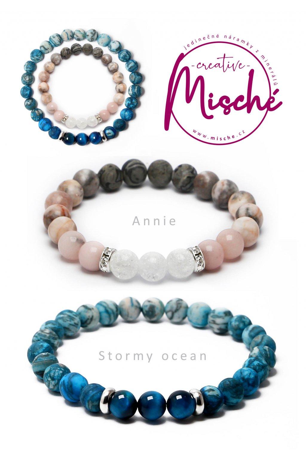 párové náramky Annie Stormy ocean
