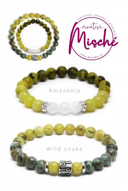 párové náramky Amazonia Wild snake