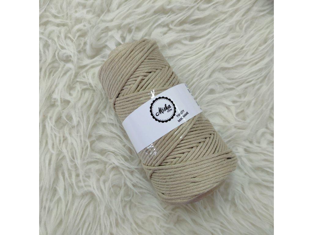 Twisty macramé 3mm 609 písková