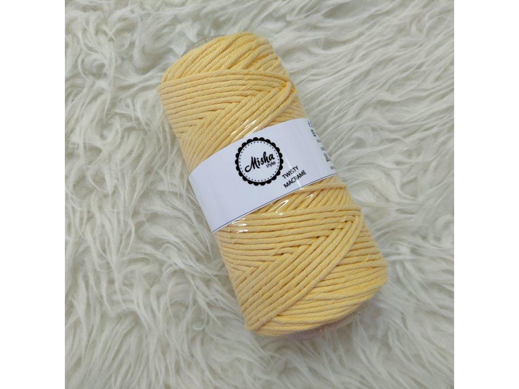 Twisty macramé 3mm 120 žlutá