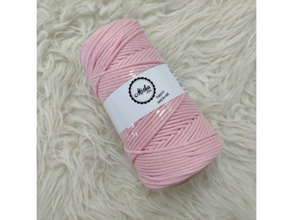 Twisty macramé 3mm 410 růžová