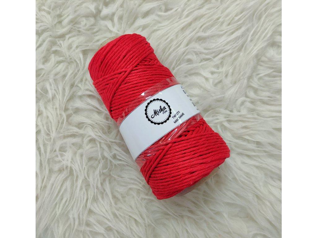 Twisty macramé 3mm 470 červená