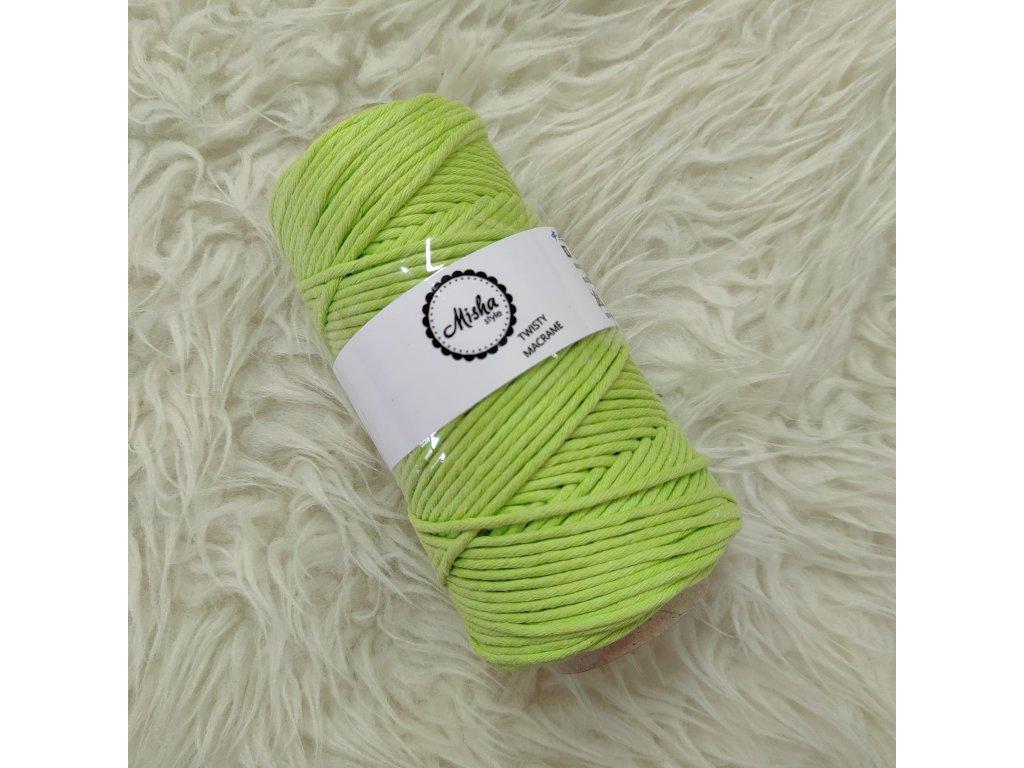 Twisty macramé 3mm 221 jarní zelená