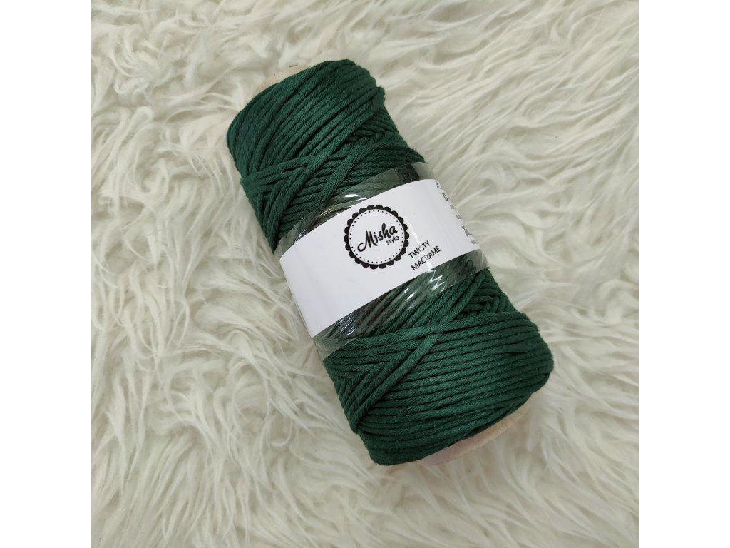 Twisty macramé 3mm 260 borovice