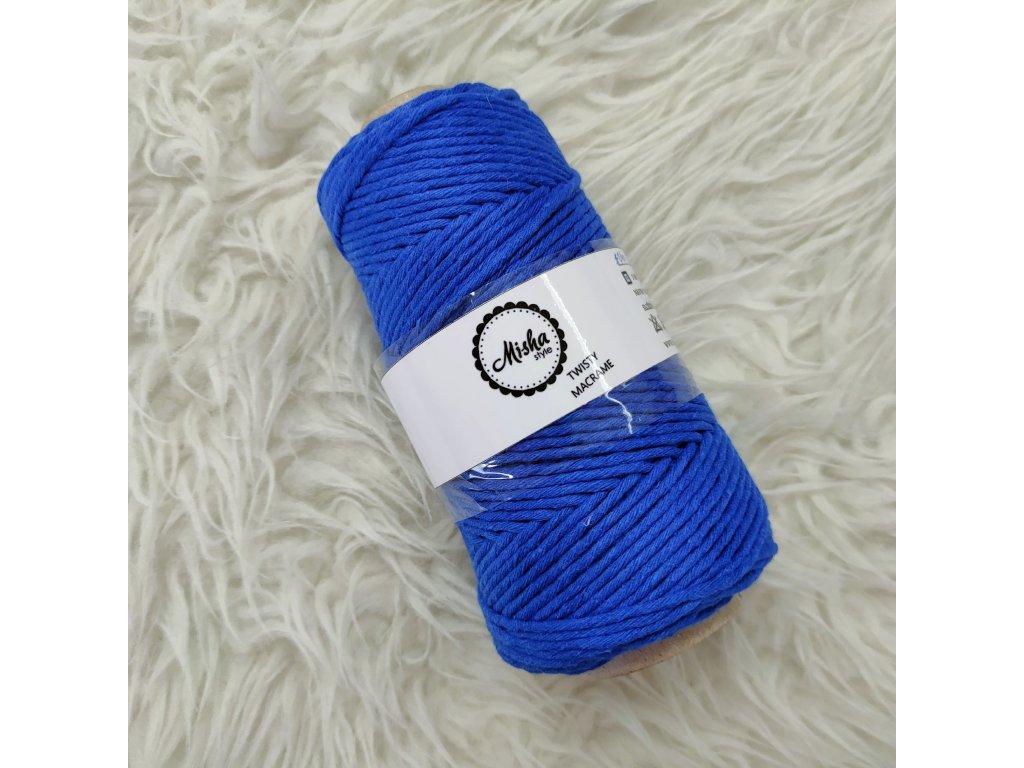 Twisty macramé 3mm 340 královská modrá