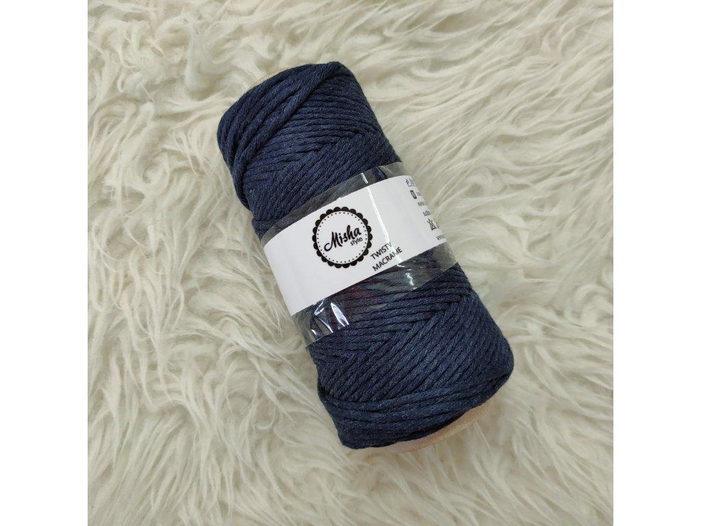 Twisty macramé 3mm 306 tmavě modrá