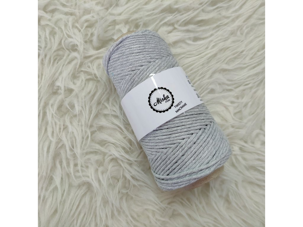 Twisty macramé 3mm 710 světle šedá