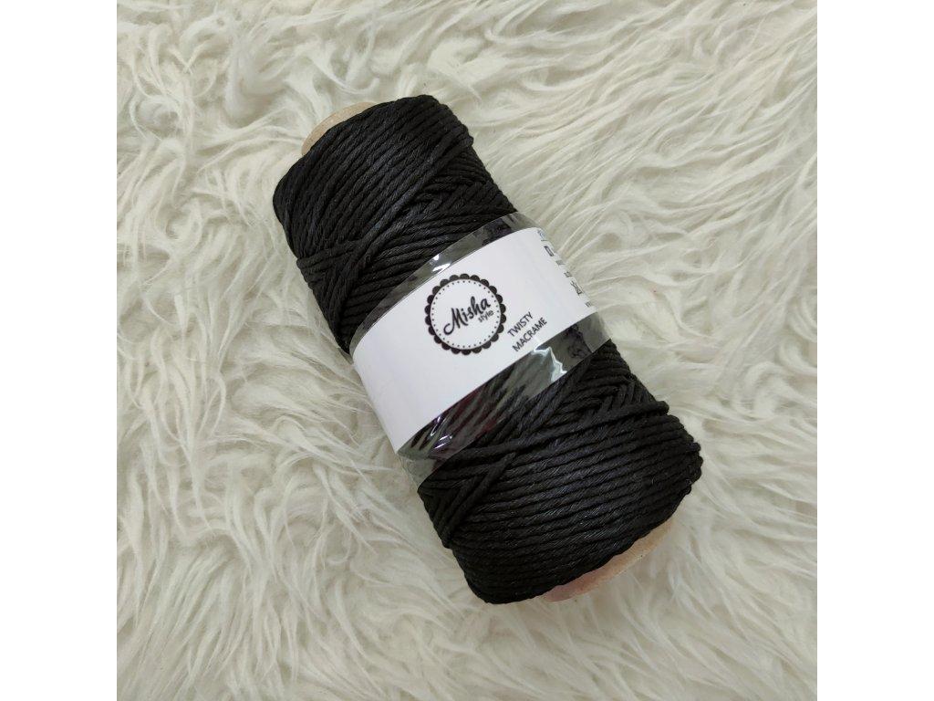 Twisty macramé 3mm 810 černá