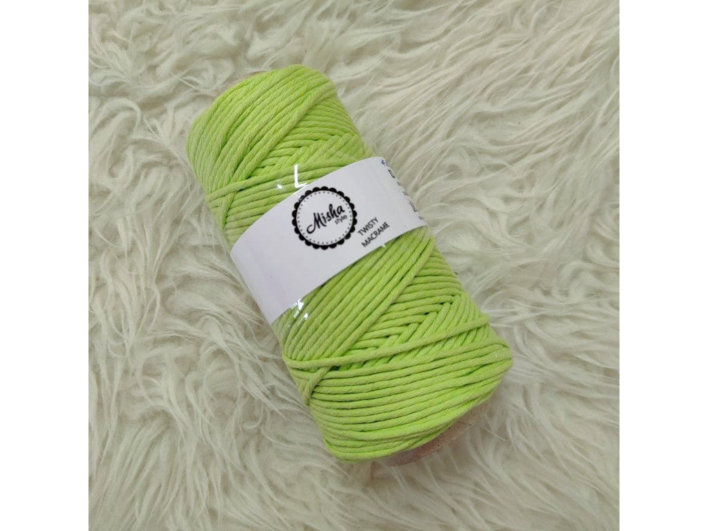 Twisty macramé 5mm 221 jarní zelená