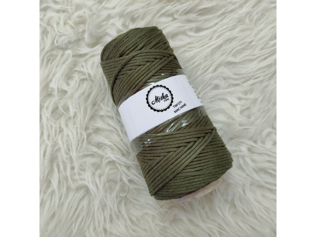 Twisty macramé 5mm 232 olivová