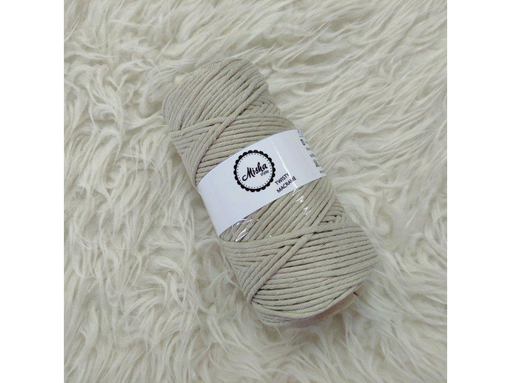 Twisty macramé 5mm 723 lněná