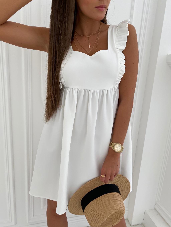 Šaty LAVENDER - bílá