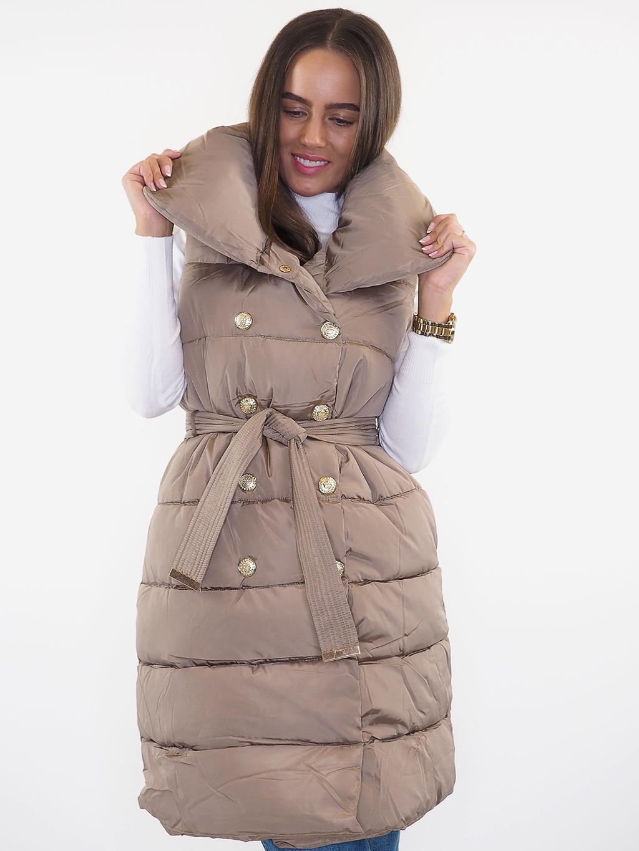 Luxusní vesta krémová