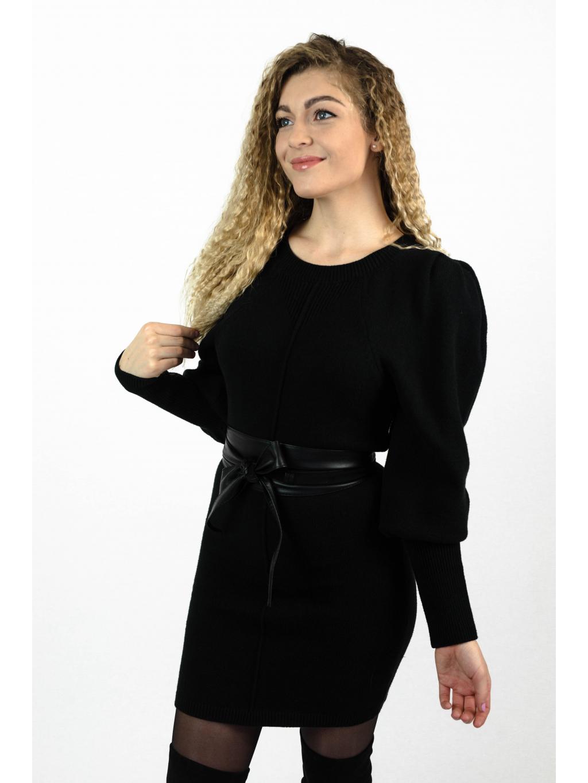 Pletené šaty BAYLO černá