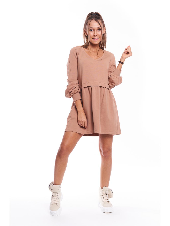 Bavlněné šaty Gusta Marry - krémová / růžová