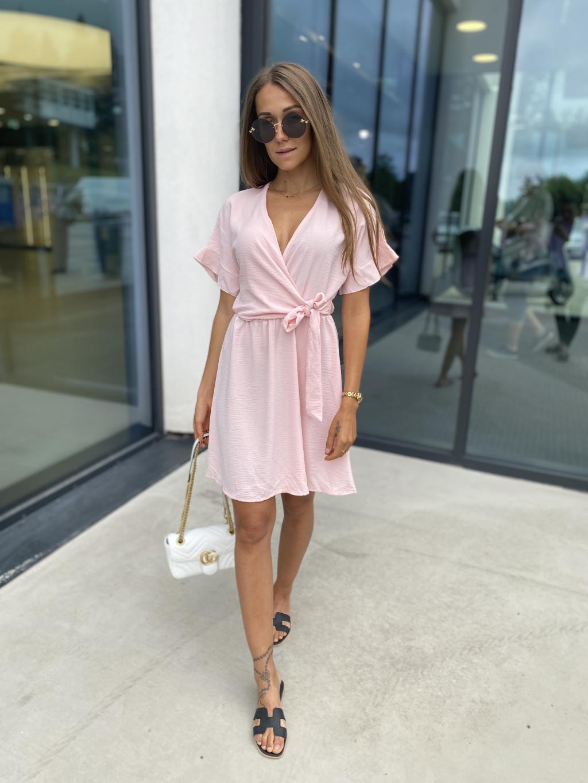 Zavinovací Šaty Stay světle růžová