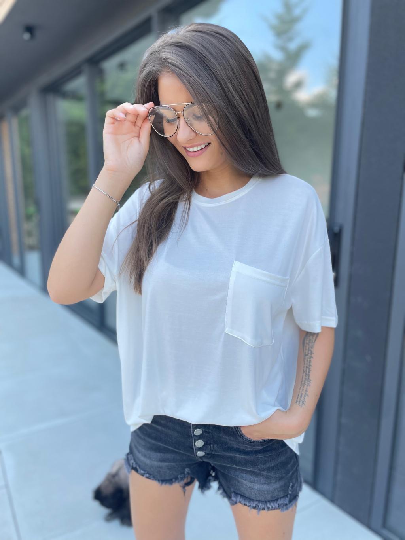 triko look bílá